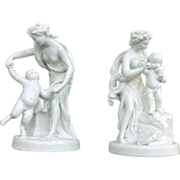 Antique Two Capodimonte Porcelain  Figurines of Venus