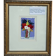 Anna Sandhu Ray an Original Acrylic Floral Paintings