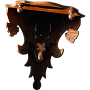 Victorian Eastlake Corner Deer Head Corner Shelf