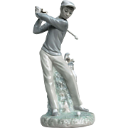 "Retired Lladro Figurine #4824 ""Golfer"" 1977"