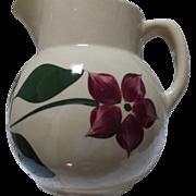 """Watt Pottery Star Flower Pitcher #16  6-1/2"""" tall"""