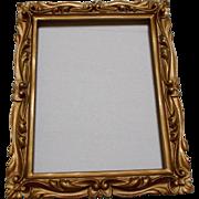 Carved Gold Wood Frame Vintage Ormolu Decorative