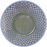 Vintage Opalescent Hobnail Moonstone Glass Plates