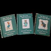 Beatrix Potter Vintage Books Tom Kitten Peter Rabbit Johnny Town Mouse