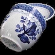 Blue White Cup Saucer Royal Copenhagen Aluminia Faience Tranquebar circa 1952