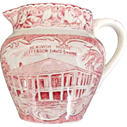 Pink White Transfer Creamer Beauvoir House Jonroth Adams England
