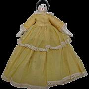 Porcelain Vintage China Head Doll Cloth Body