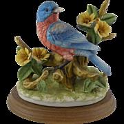 Jonathon Byron Porcelain Bluebird Figurine for Arnart Royal Crown 1980s Bird