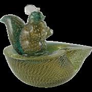 Archimede Seguso Murano Squirrel Bowl