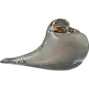 SOLD Archimede Seguso Clear Pouter Pigeon made in Murano