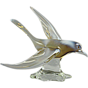 SALE Magnificent Murano Glass Seagull Bird Sculpture made with Opalescent Glass
