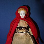 Red Riding Hood Doll Blond Bisque