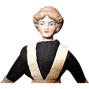 Larger Doll House Lady with Gibson Girl Hairdo