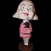 Buster Brown Paper Mache Nodder Doll