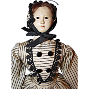 Early French Paper Mache Doll