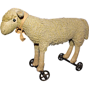Steiff Lamb on Wheels