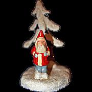 Santa near tree