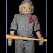 Steiff Baseball Player doll