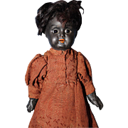 Black Doll Marked PR
