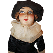 French Cloth Boudoir Doll with Provenance