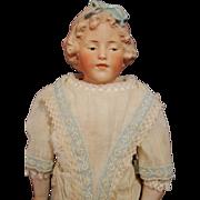 Rare Gebruder Heubach Molded Hair Character Doll
