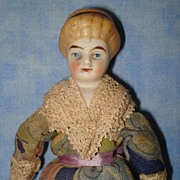 Larger Doll House Lady Doll with molded ribbon