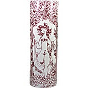 Bjorn Wiinblad The Three Graces Gulvvase in Red & WHite