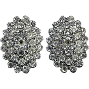 Fabulous Vintage Rhinestone Clip-On Earrings