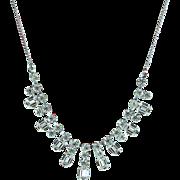 Vintage Festoon Rhinestone Necklace