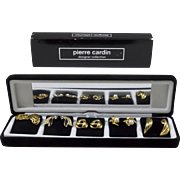 Pierre Cardin Gift Box Set of 5 Gold-Tone Earrings (for pierced ears) Designer Collection