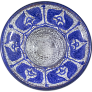 Michael Andersen & Son, Block Candle Holder/Catchall Blue & Grey Persia Glaze by ...