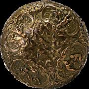 Late 19th Century Fredeic Goldscheider Art Nouveau  Gilded Brass  Makeup Compact