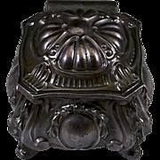 Jugendstil Small Metal Trinket Box in Pewter Grey