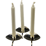 Set of 3 Cohr, Denmark Silverplated Candle Holders