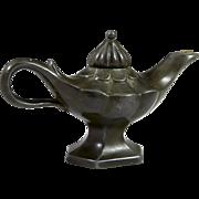 Denmark Just Andersen Aladdin Oil Lamp, Art Deco Style