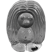 Bergdala GlasbrukSweden Glass Troll Figurine/Paperweight Designed by Peter Johansen