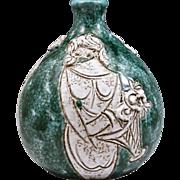 Mid-Century Modern Bitossi Emerald-Green Vase