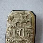 SOLD Very unusual and interesting- celluloid brooch