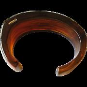Angular lucite cuff Bracelet-signed Monet