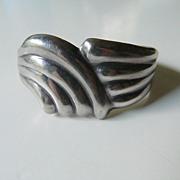 SOLD Heavy sterling silver- Cuff bracelet