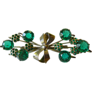 Large- elegant sterling pin- jeweled