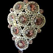 Vintage glass stones Dress/fur Clip