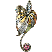 "Exquisite ""Book piece"" Reja- swan brooch-rare item"