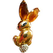 "Fabulous-""Big Bunny-Rabbit"" pin- 1930's-Book piece"