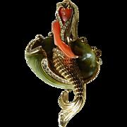 Exquisite- jeweled Mermaid-Pin