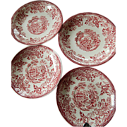 Four porcelaine plates- Royal Staffordshire-England-Design by Clarice Cliff
