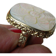 Outstanding- signed-Stephen Dweck-Bronze -MOP ring