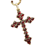 Garnet cross with chain-Italy