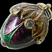 Faberge style jeweled-Egg charm
