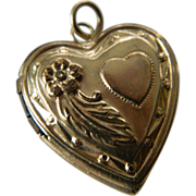 Gold filled-Heart locket